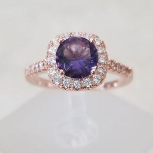 18k Over Sterling Amethyst Ring